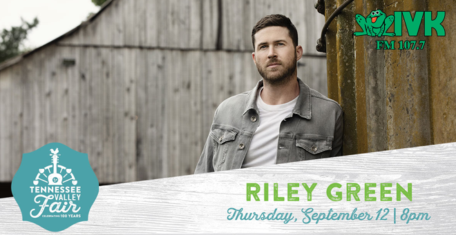 September 12 – Riley Green at Tennessee Valley Fair