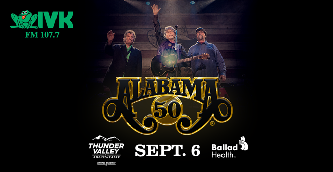 September 6 – Alabama at Thunder Valley Amphitheatre