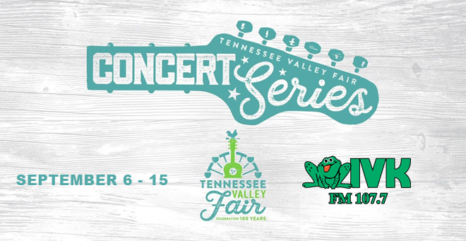 September 6 – 15 – Tennessee Valley Fair Concert Series