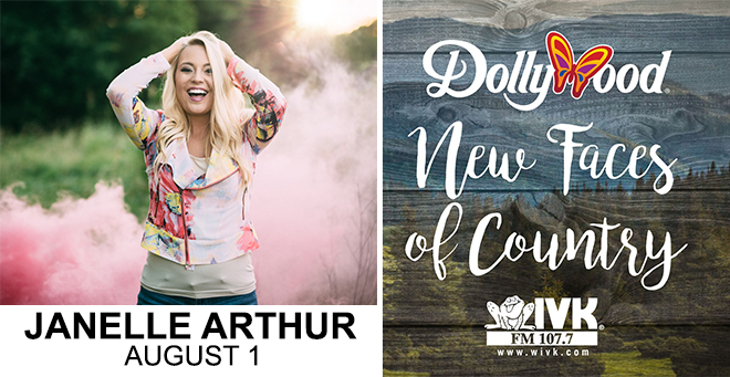 August 1 – Janelle Arthur at Dollywood's New Faces of Country