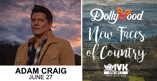 June 27 – Adam Craig at Dollywood's New Faces of Country