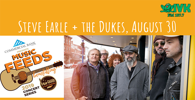August 30 – Stevel Earle & the Dukes at Tennessee Amphitheater
