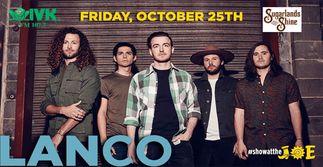 October 25 – Lanco at Cotton Eyed Joe