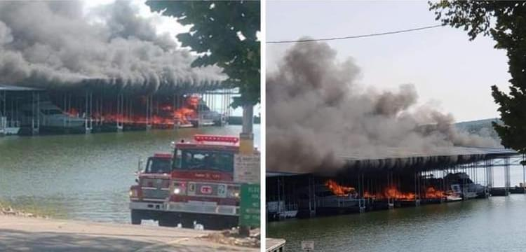 Boat Explosion and Marina Fire in Middle TN