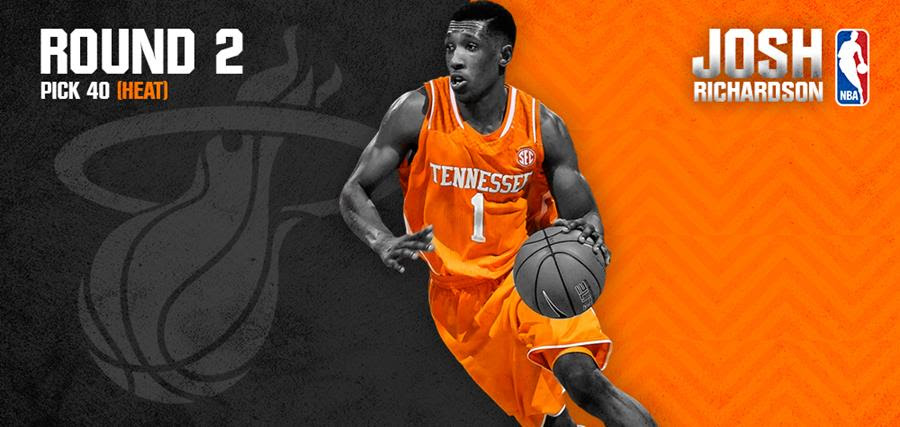 half off 8b2c0 b92fb Josh Richardson selected in 2nd Rd of NBA Draft by Miami ...