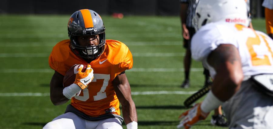 lowest price aaedb ec440 Spring practice #7: Jersey changes, Smokey gray helmets ...