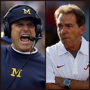 Today's talking points: Harbaugh vs Saban