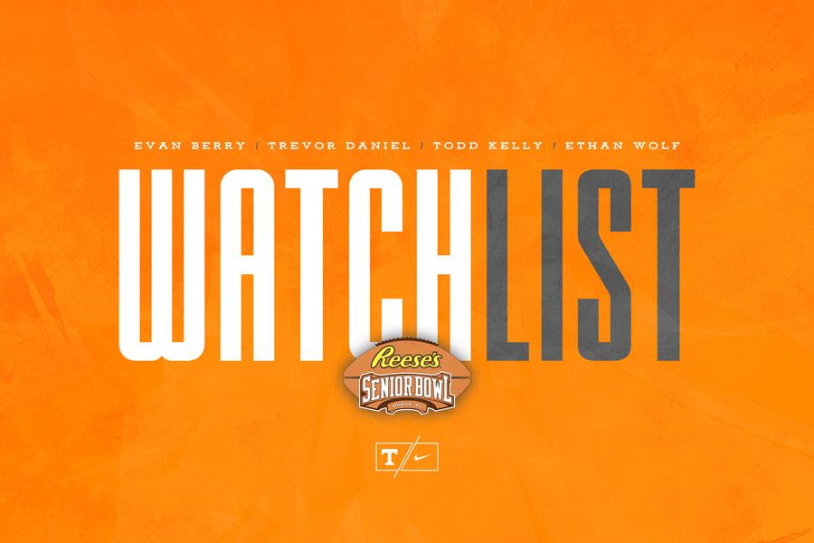 Four Vols Named to Senior Bowl Watch List