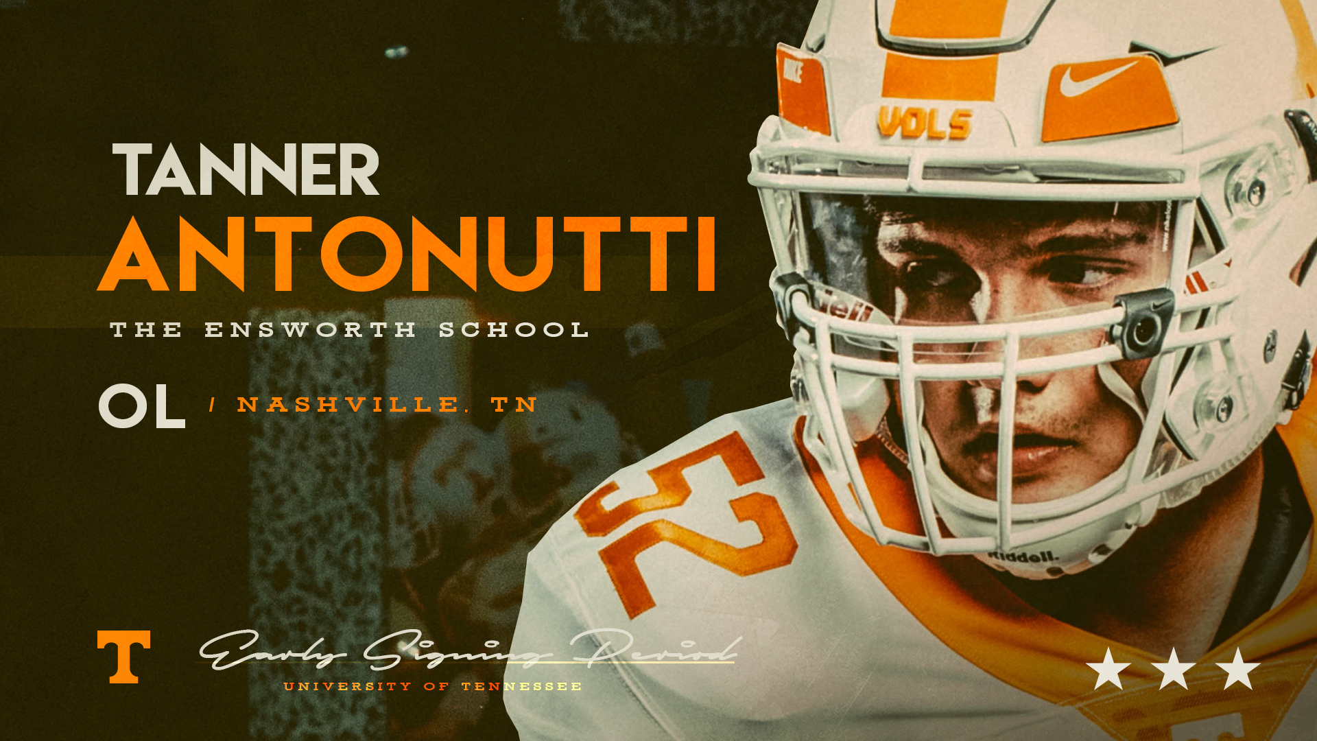 OL Tanner Antonutti first to sign with the Vols