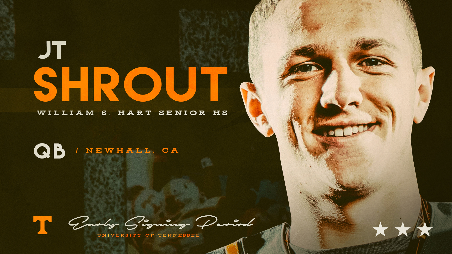 Tennessee signs a QB as JT Shrout from California is officially in
