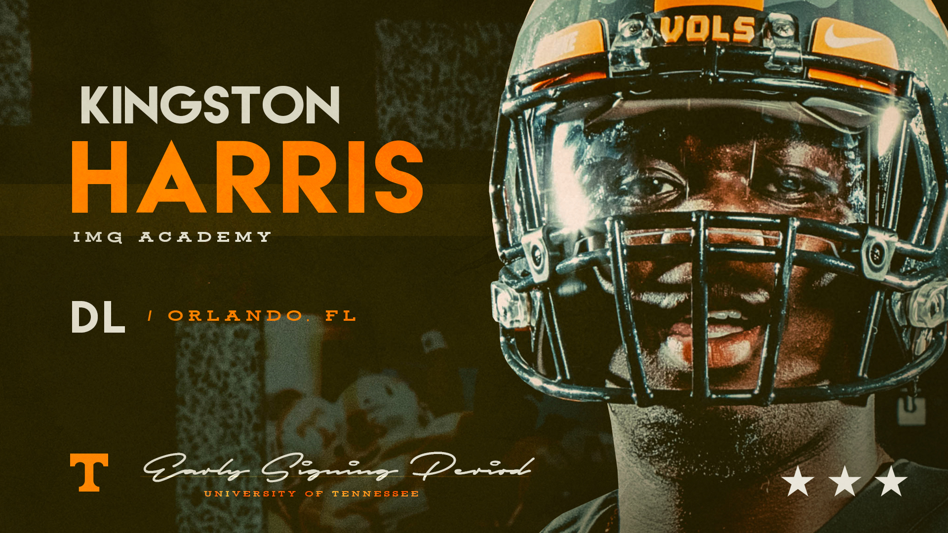 DL Kingston Harris is the 5th player to sign with Tennessee