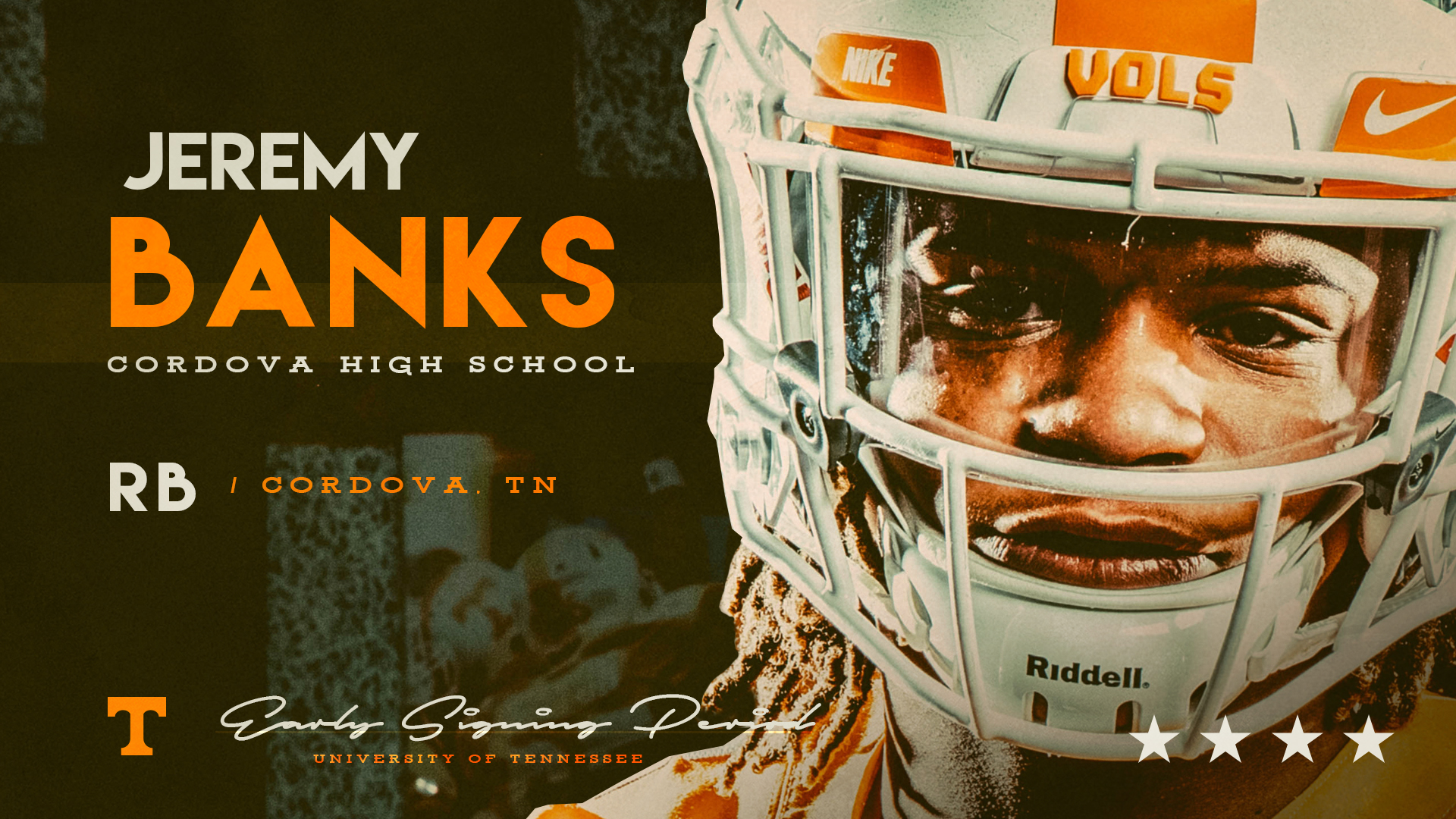 RB Jeremy Banks signs with the Vols, 6th in the books