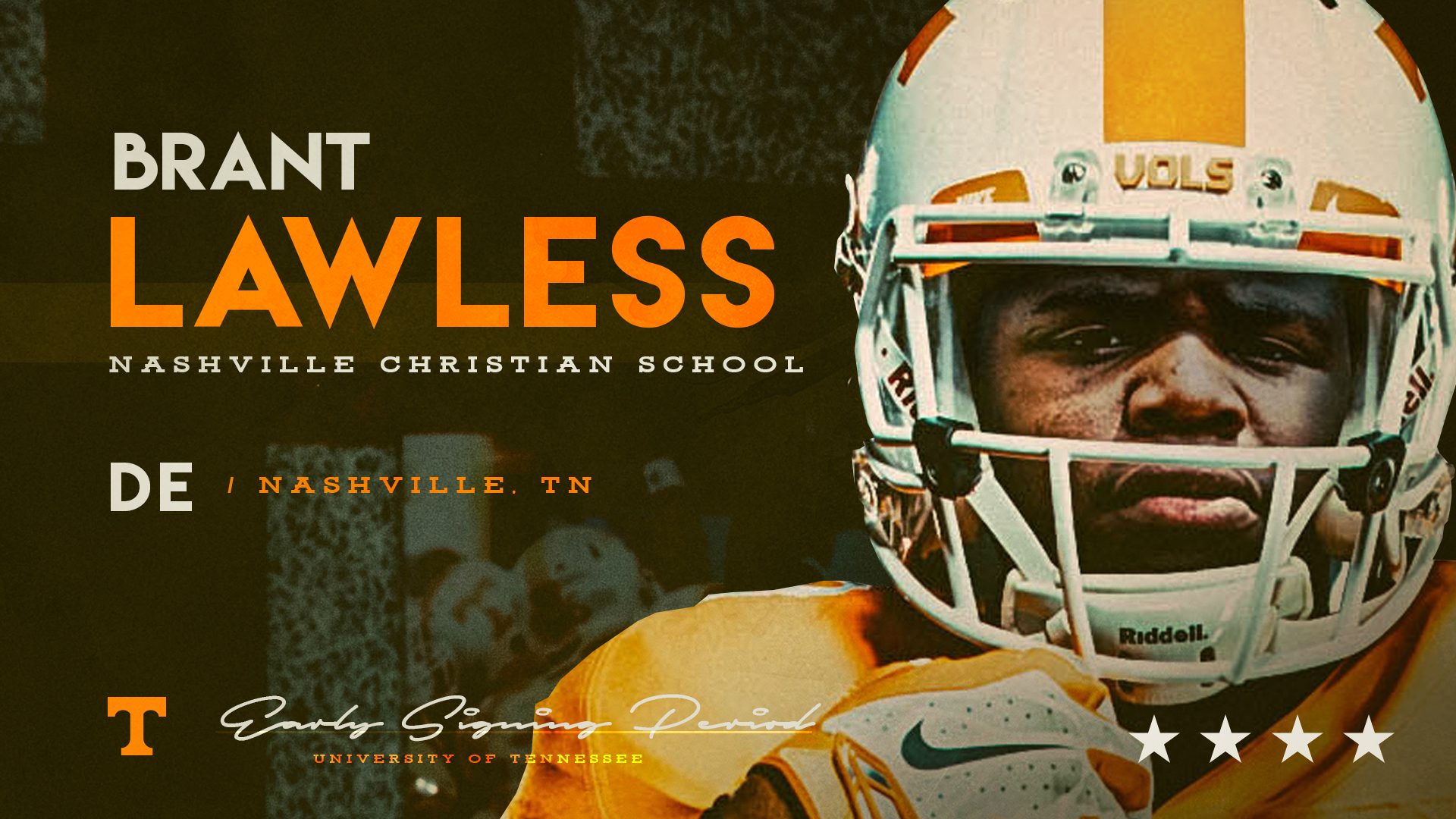 4-star DE Brant Lawless of Nashville is 9th to sign with UT