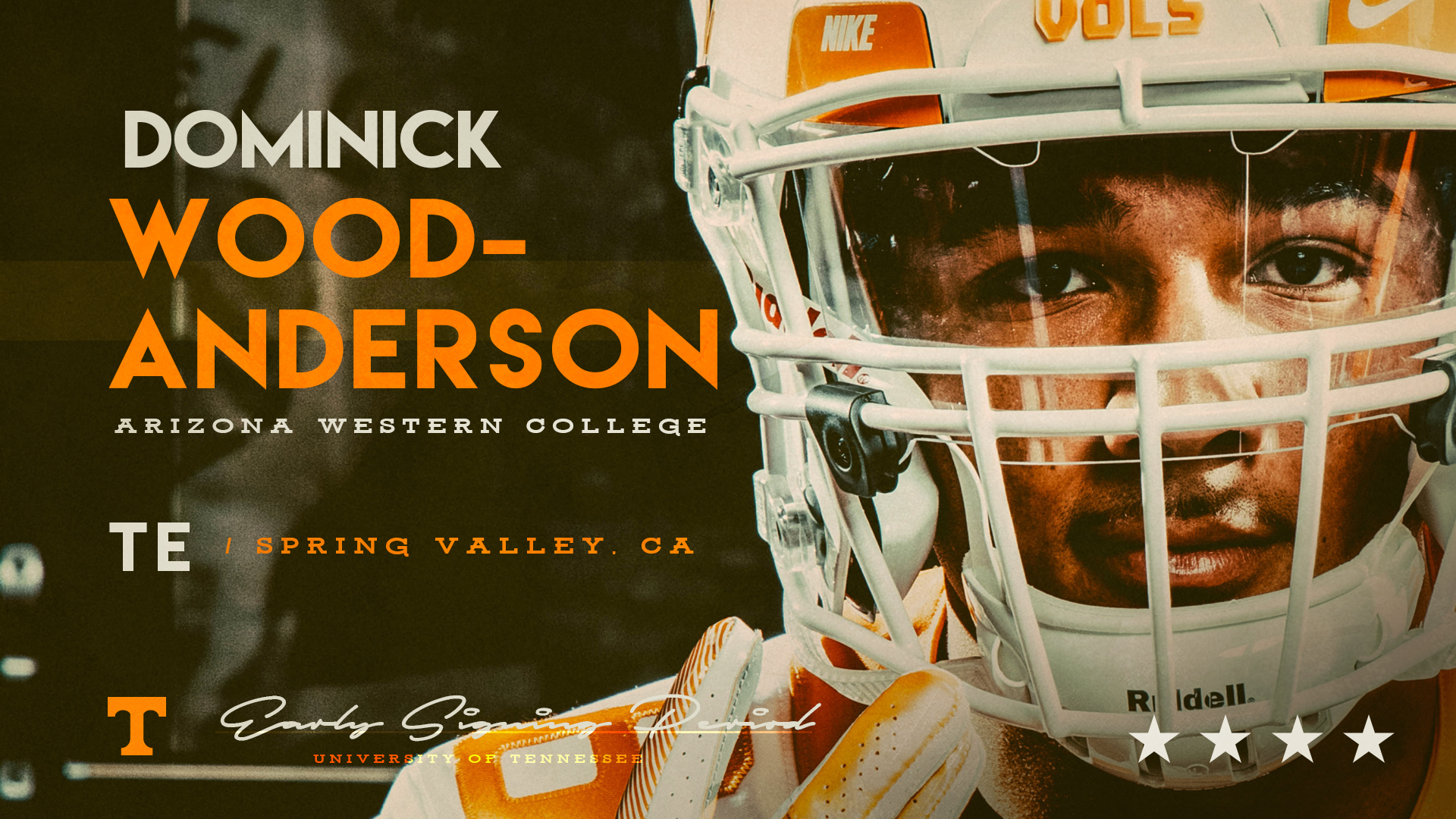 Vols sign #1 JUCO TE, Dominick Wood-Anderson, 11th signee