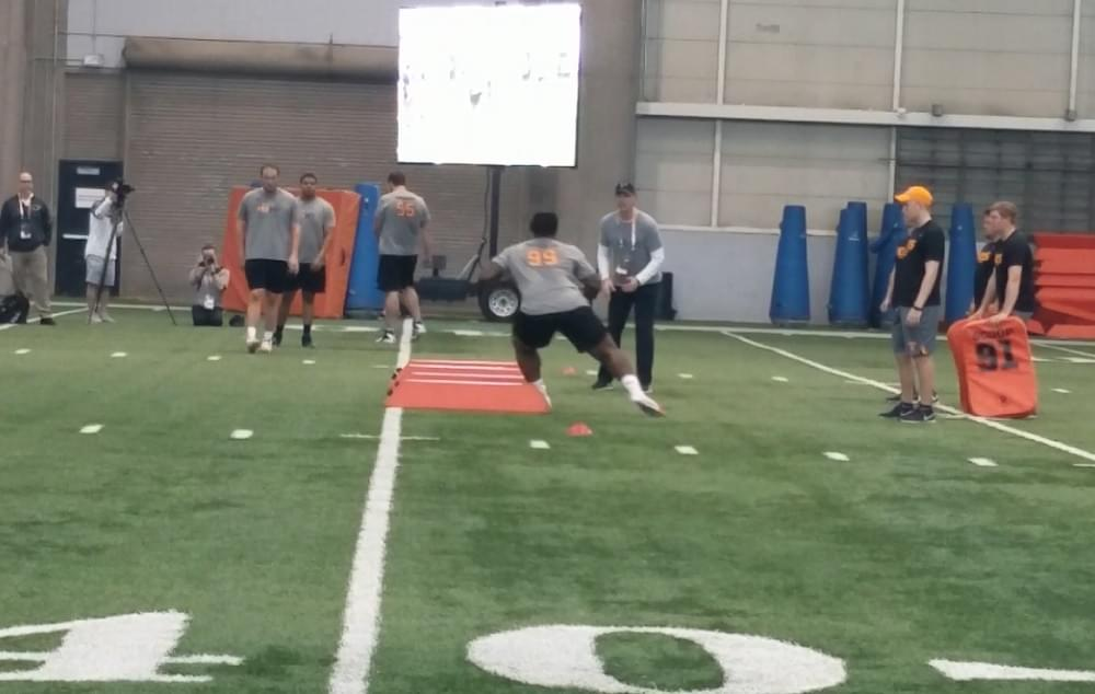 Video: Tennessee Pro Day footage with 22 VFLs working out