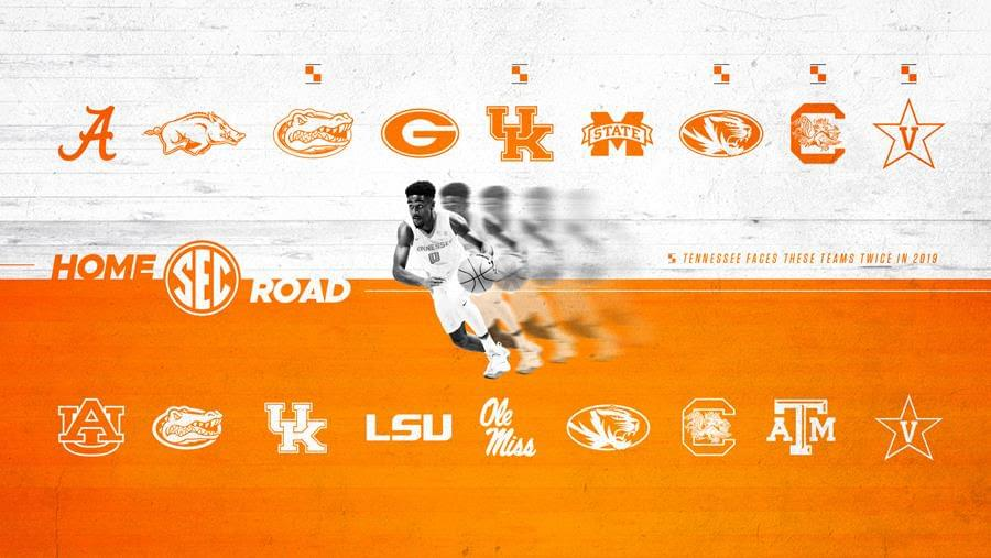Vols 2019 Men's Hoops League Opponents Announced