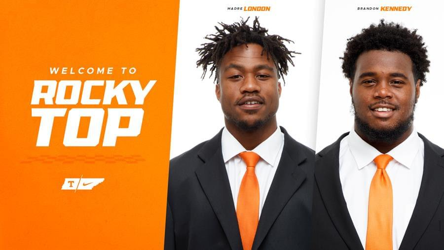 Kennedy, London Officially Join Tennessee Football Team