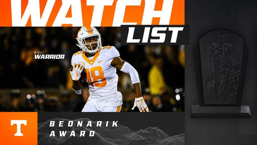 Warrior Named to Bednarik Award Watch List