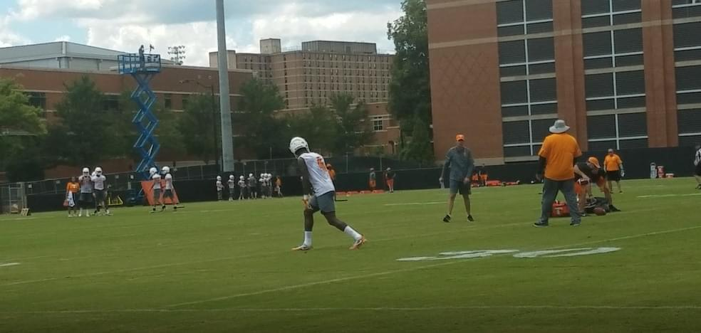 Practice 2 Observations and Notes: DB Maleik Gray works at WR