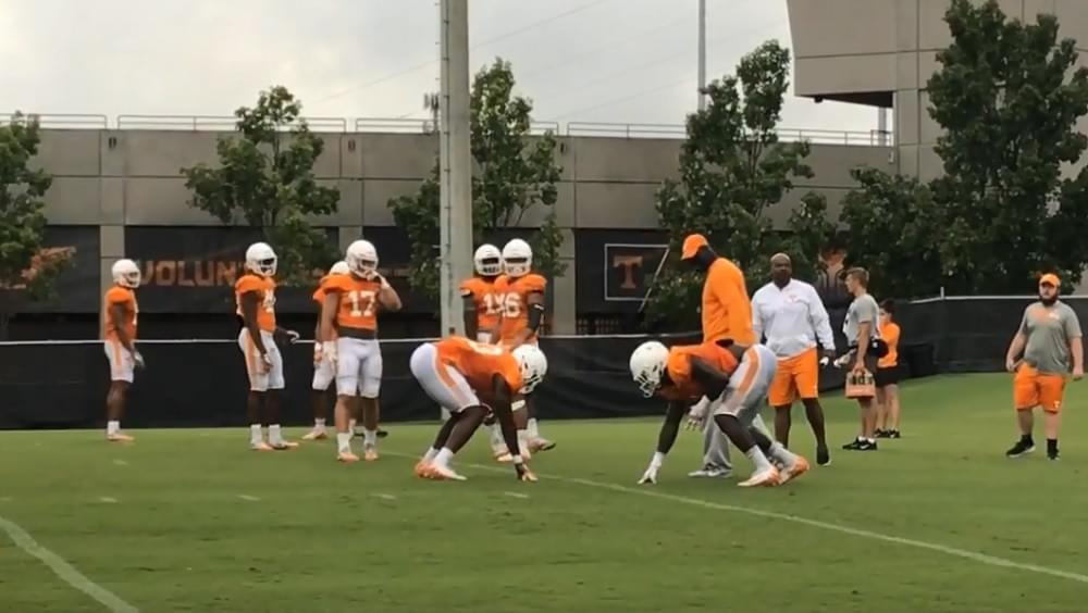 Video: Tennessee football fall practice 6 (OLB/ILB/TE)