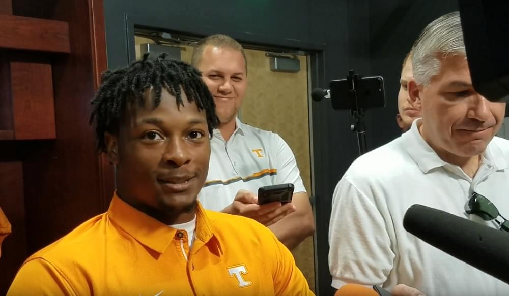 """Video: Ty Chandler on if he's lobbying to return kickoffs again """"yeah, for sure"""""""