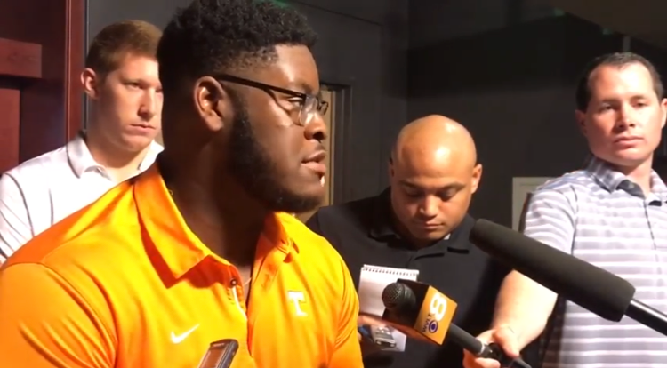 VIDEO: Trey Smith Talks OL Play & Auburn Front-Seven