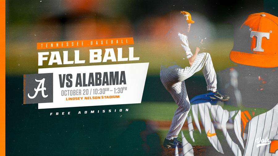 Baseball Fall Practice Schedule: Vols Host Alabama in Fall Scrimmage #2 on Saturday