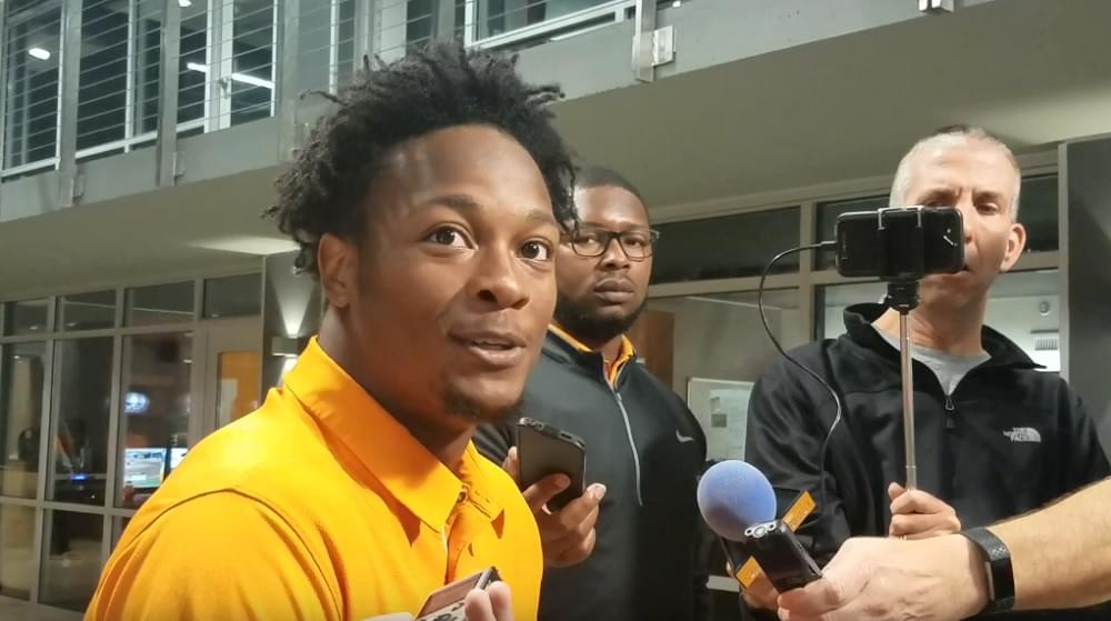 Video: Ty Chandler talks about Jennings, Guarantano and getting the ball