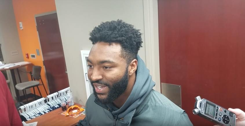 Video: Micah Abernathy compliments Osborne for stepping in