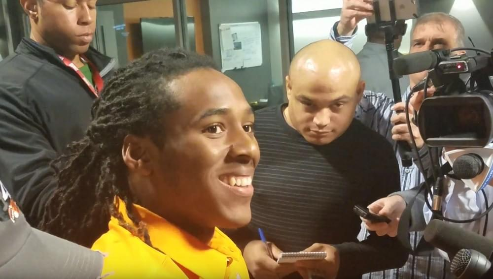 Video: Marquez Callaway shares more insight into Hail Mary catch