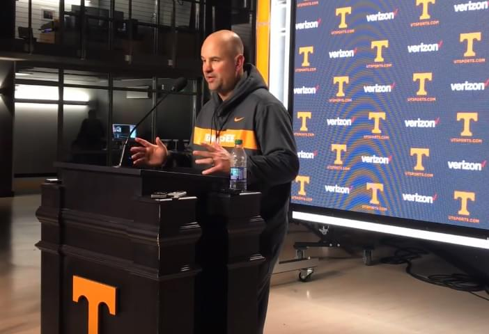 """Video: Jeremy Pruitt discusses contributions of seniors and a """"great idea"""" from Phillip Fulmer that's helped at practice"""