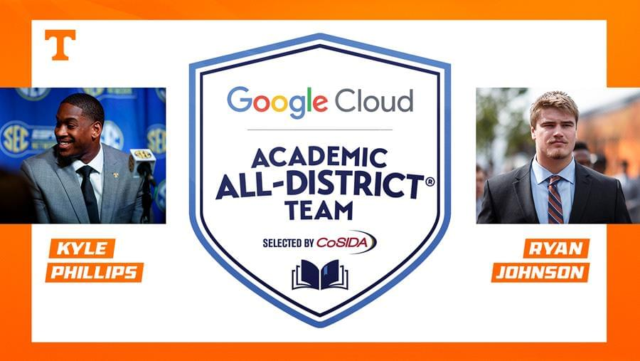 Johnson, Phillips Named to Google Cloud Academic All-District® Team