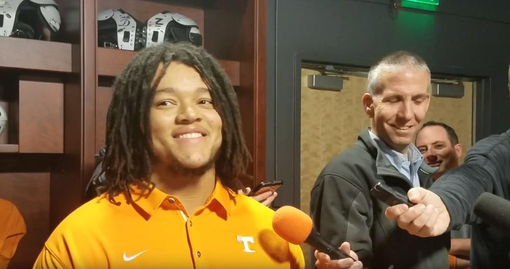 "Video: OL Marcus Tatum ""I can put it all on us"" and describes Trey Smith's role while not playing"