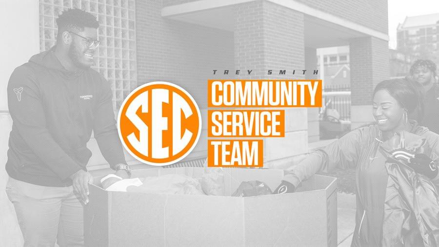 Trey Smith Named to the 2018 SEC Football Community Service Team