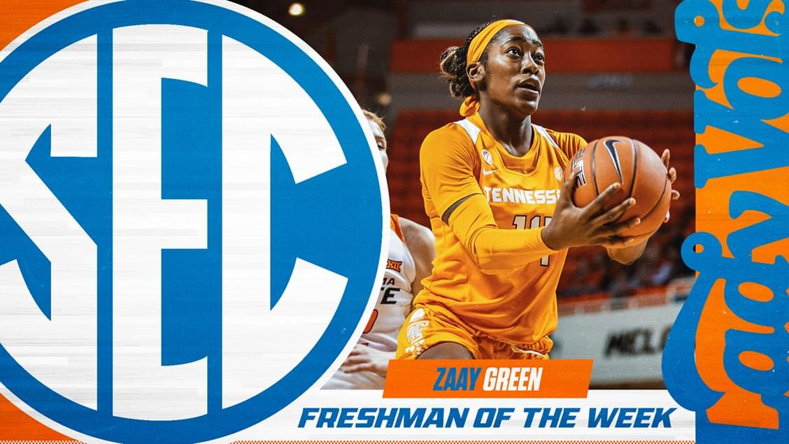 Zaay Green Named SEC Freshman of the Week