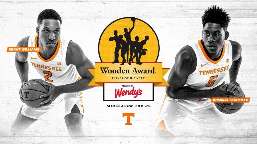 Schofield, Williams Named to Wooden Award Midseason Watch List