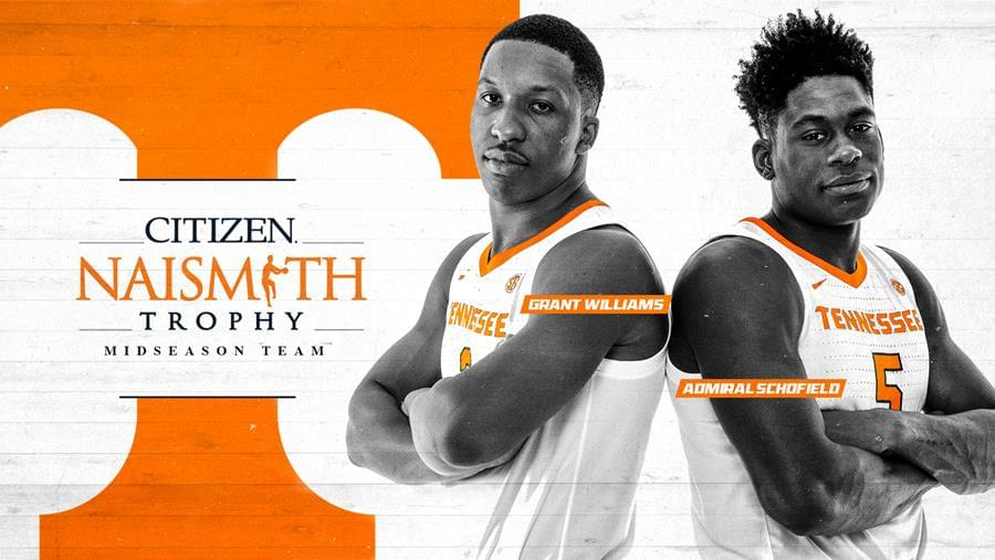 Schofield, Williams Named to Naismith Trophy Midseason Team