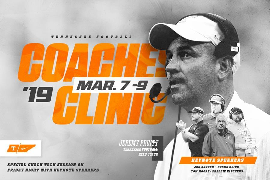 UT Football Announces 2019 Coaches Clinic and Camp Dates