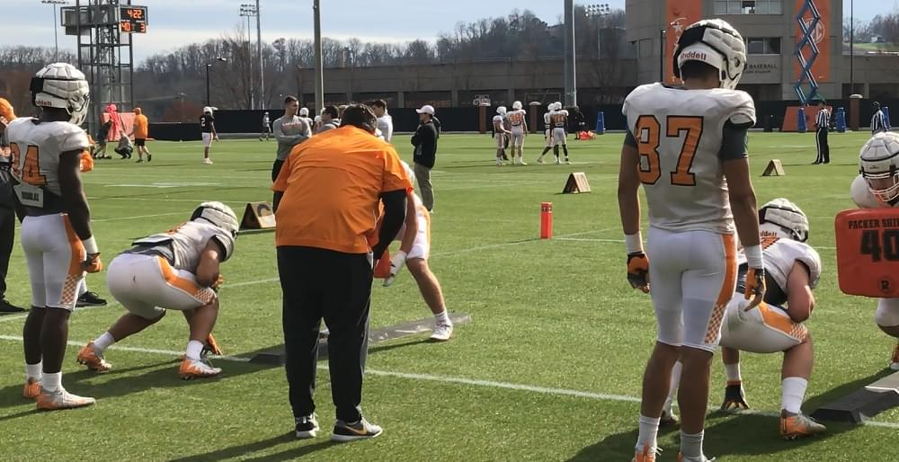 Views and Notes From Tennessee Football Spring Practice 3