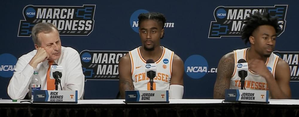 "Video: Tennessee NCAA postgame ""I thought we were anxious. I thought we were showing too much anxiety."""