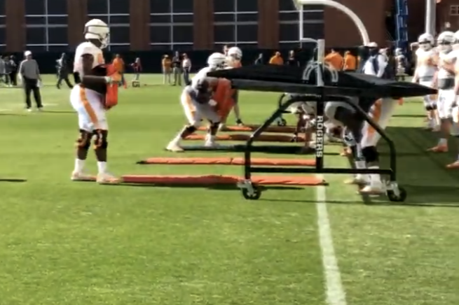 VIDEO: Tennessee 2019 Football Spring Practice #7