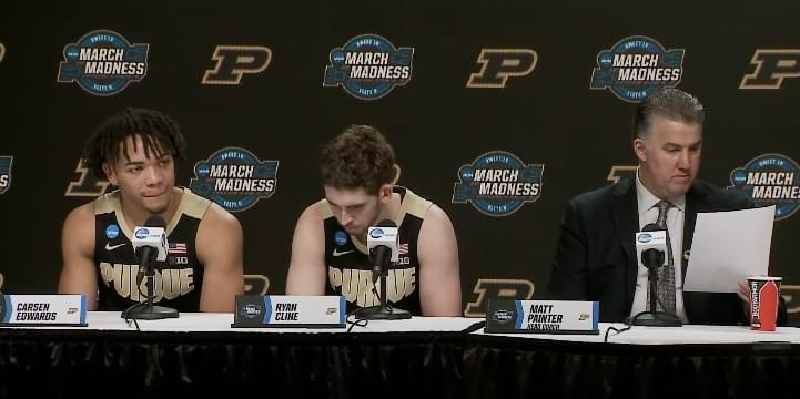 Video: Purdue's Matt Painter and players in postgame press conference