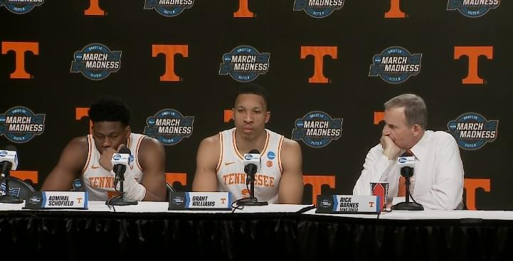 Video: Rick Barnes, Admiral Schofield and Grant Williams in postgame press conference