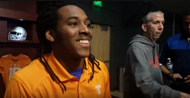 "Video: Marquez Callaway on Guarantano ""I think he's doing a better job trying to be a leader"""