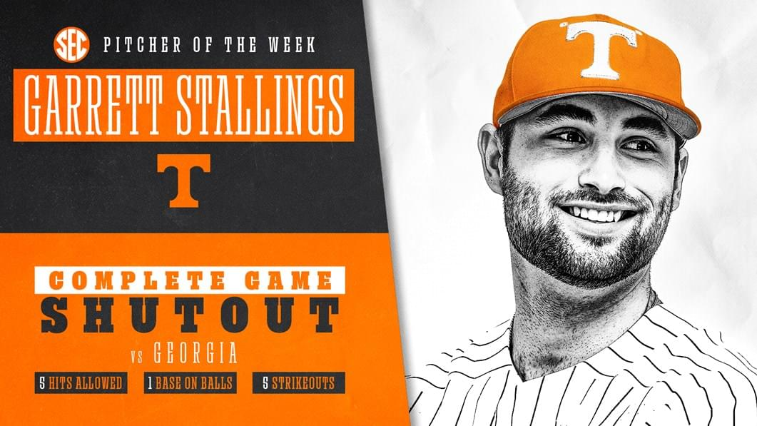Stallings Named SEC Pitcher of the Week