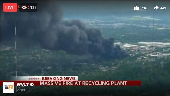 Live Video of Massive North Knoxville Fire