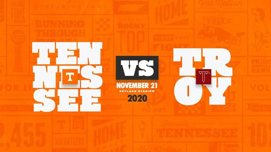 Tennessee football will host Troy in 2020