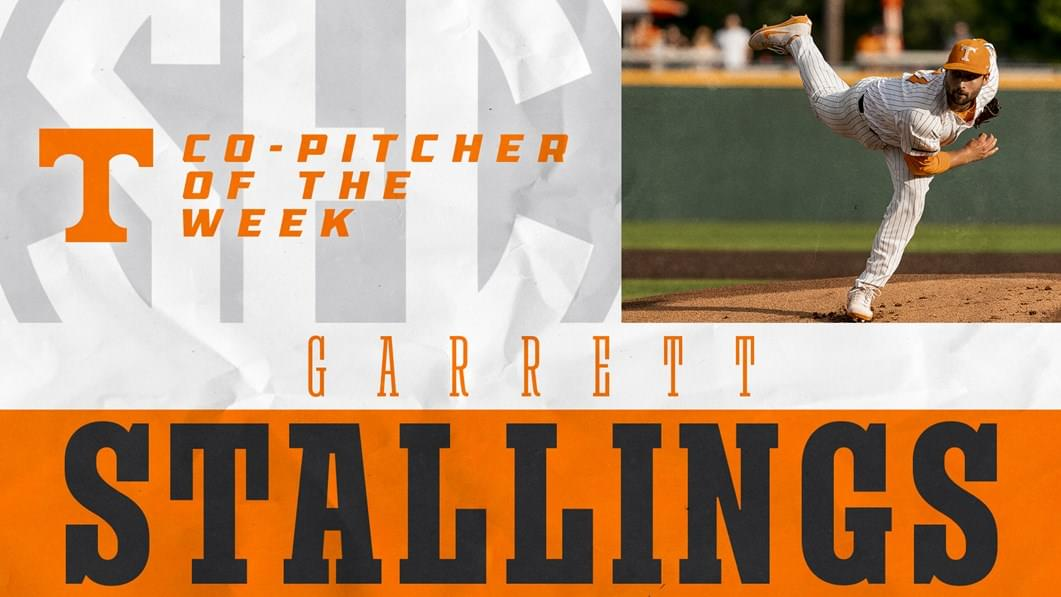 Stallings Earns SEC Pitcher of the Week Honors for Second Time this Season
