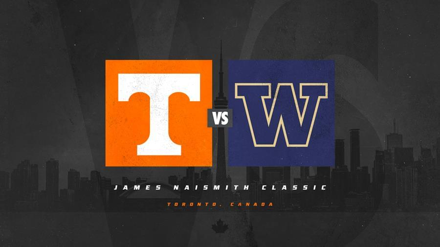 Tennessee Basketball to Face Washington in Toronto