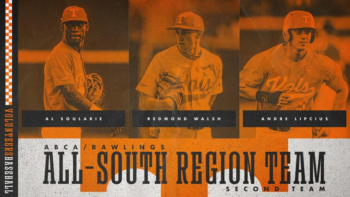 Trio of Vols Named to ABCA/Rawlings South All-Region Second Team